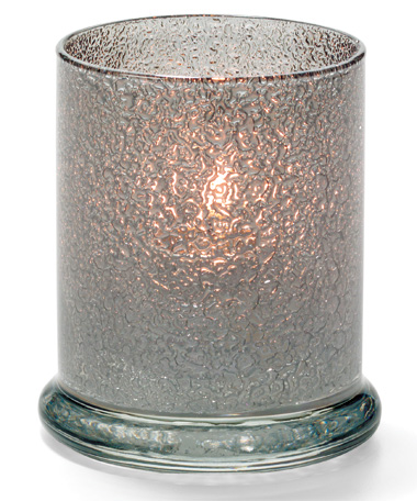 SMOKE JEWEL GLASS VOTIVE COLUMN LAMP
