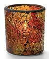 View details for Red & Gold Crackle™ Glass Votive Lamp