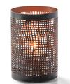 View details for Chantilly™ (Black & Copper) Perforated Metal Votive Lamp