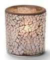 View details for Gold Frosted Crackle™ Glass Votive Lamp