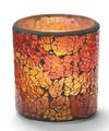 View details for Red & Gold Frosted Crackle™ Glass Lamp