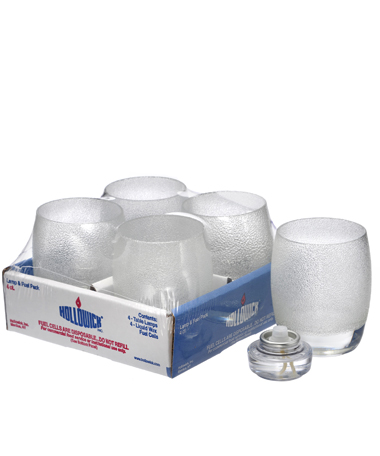 Clear Ice Contour Glass Votive Lamp Shelf Pack w/HD12 - 4/Pack