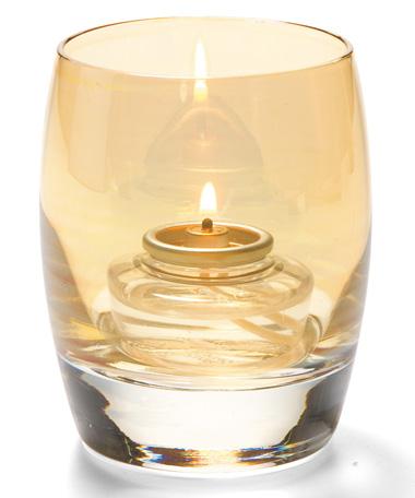 Gold Lustre Contour™ Glass Votive Lamp
