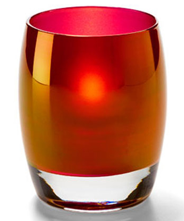 Ruby Gold Contour Votive Lamp