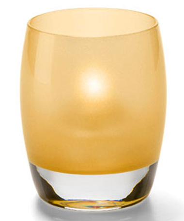 SATIN GOLD CONTOUR VOTIVE LAMP