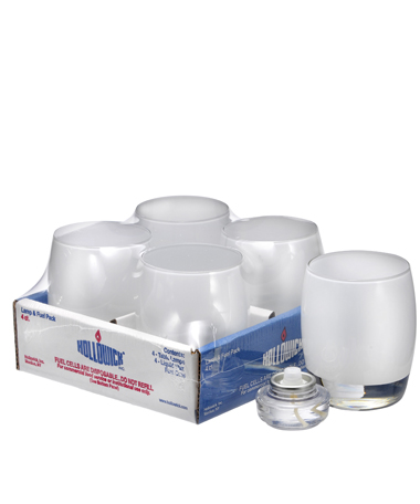 Satin Linen Contour™ Glass Votive Lamp Shelf Pack 2/HD12 - 4/Pack