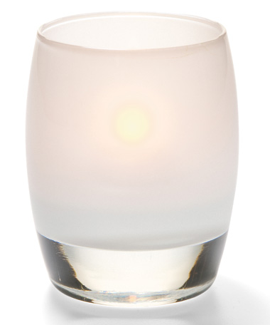 SATIN LINEN CONTOUR GLASS  VOTIVE LAMP
