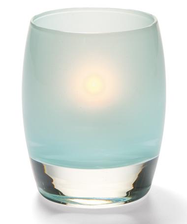 Satin Seafoam Contour™ Glass Votive Lamp