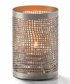 View details for Chantilly™ (Pewter & Gold) Perforated Metal Votive Lamp