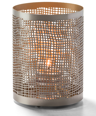 Chantilly™ (Pewter & Gold) Perforated Metal Lamp