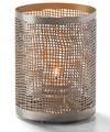 View details for Chantilly™ (Pewter & Gold) Perforated Metal Lamp