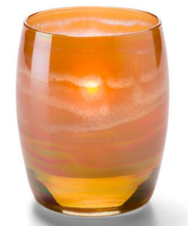 Amber Art Contour Votive Lamp