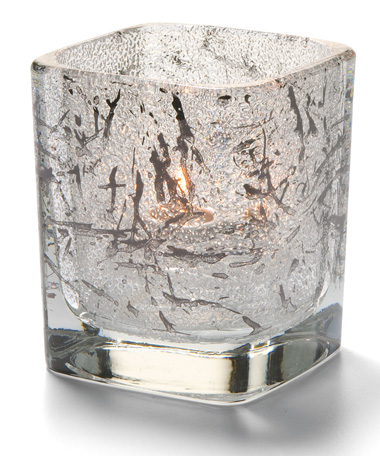 SPLASH BLACK-TETRA  GLASS VOTIVE LAMP