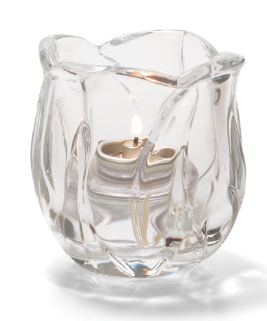 Clear Crystal Glass Votive Lamp
