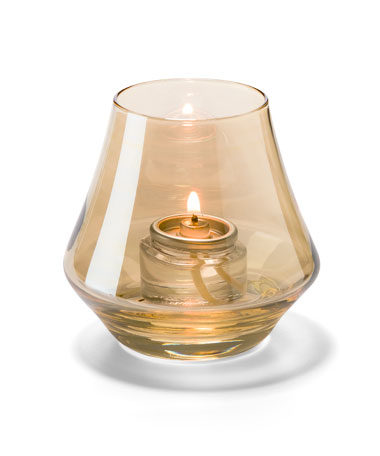 Gold Lustre Chime™ Glass Votive Lamp