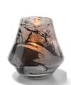 View details for Marbled Black And White Chime™ Glass Votive Lamp