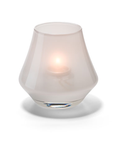 SATIN LINEN CHIME GLASS VOTIVE LAMP
