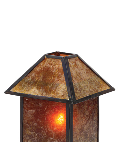 Amber Mica Shade for Mini Panel Lamp