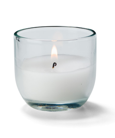 8 HR. Caterlite Disposable Candle in Clear Glass - 48/CS