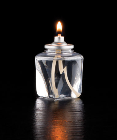 18 HR  Liquid Wax Candle Disposable Clear Plastic Fuel Cell w/Square  Bottom -  48/CS