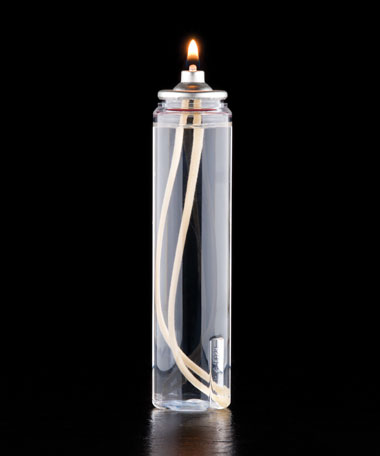 29 HR Liquid Wax Candle Disposable Clear Plastic  Fuel Cell - 36/CS