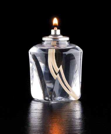 37 HR  Liquid Wax Candle Disposable Clear Plastic Fuel Cell  w/Square Bottom - 36/CS