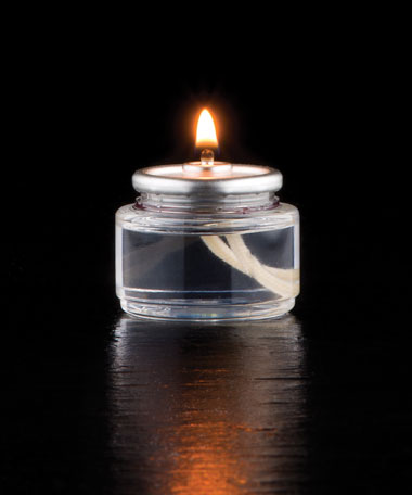 8 HR Liquid Tealight Disposable Clear Plastic Fuel Cell  - 90/CS