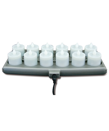 12 - Warm White Platinum (Candles/Tray/Power)