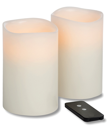 TRUFLAME LED WAX PILLAR WITH REMOTE, IVORY 4