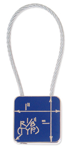 Blueprint Key Ring