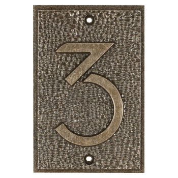 Exhibition Font House Number - 3