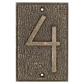 Exhibition Font House Number - 4