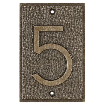 Exhibition Font House Number - 5