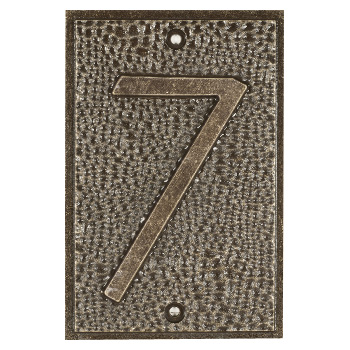 Exhibition Font House Number - 7