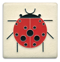 Lady Bug Tile White