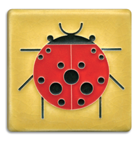 Lady Bug Tile Yellow