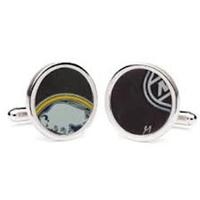 Sabres Hockey Puck Cufflinks