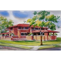 Martin House Complex in Watercolor Note Cards
