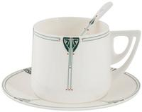 Dard Hunter Design Cup, Saucer and Spoon